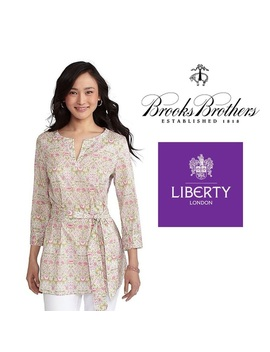 Liberty Of London For Brooks Brothers Tunic. P/Xs.   Nwt by Liberty Of London