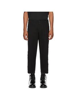 Pantalon En Laine Et Coton Noir by Ann Demeulemeester