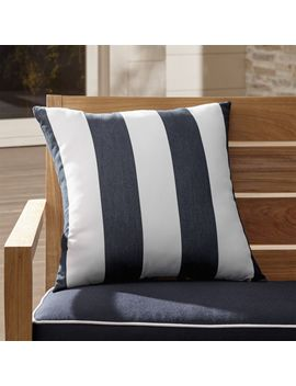 "Sunbrella ® Cabana Classic 20"" Sq. Outdoor Pillow by Crate&Barrel"