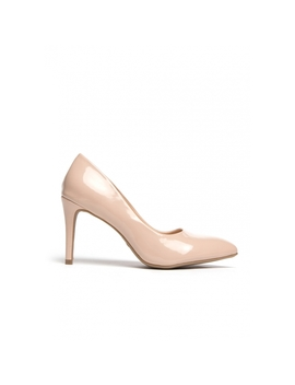 Sandra Patent Leather Pumps In Nude by Wet Seal