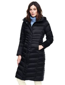 Women's Petite Shimmer Long Down Coat by Lands' End