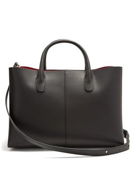Red Lined Folded Leather Bag by Mansur Gavriel