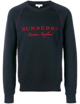 Burberry Embroidered Jersey Sweatshirthome Men Burberry Clothing Sweatshirtsperforated T Sneakers Embroidered Jersey Sweatshirt by Burberry