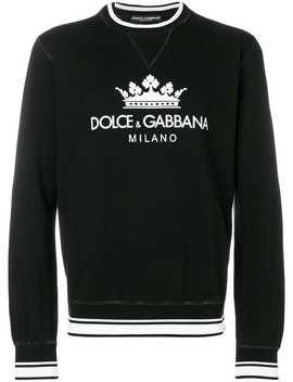 Dolce & Gabbanacrown Logo Sweatshirthome Men Dolce & Gabbana Clothing Sweatshirtsfloral Print Shortscrown Logo Sweatshirt by Dolce & Gabbana