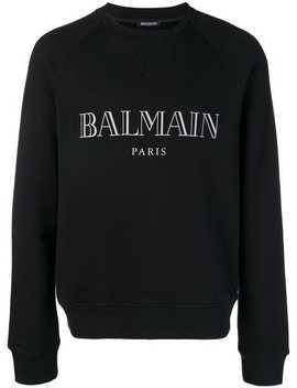 Balmainlogo Print Sweatshirthome Men Balmain Clothing Sweatshirtsskinny Biker Jeanslogo Print Sweatshirt by Balmain