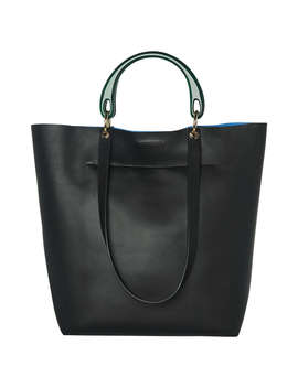 Whistles Muswell Leather Tote Bag, Black by Whistles