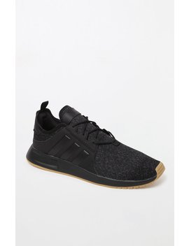 X Plr Knit Black & Gum Shoes by Adidas