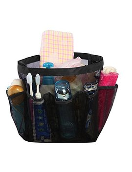 Livecity Quick Dry Mesh Pockets Shower Hanging Caddy Bath Organizer Storage Bag   Black by Livecity
