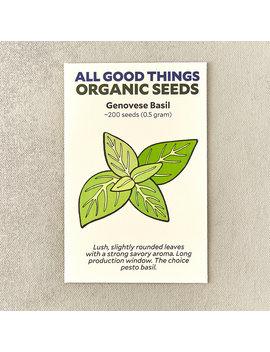 Genovese Basil Seeds by Terrain
