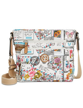 Coated Canvas Crossbody, Created For Macy's by Giani Bernini