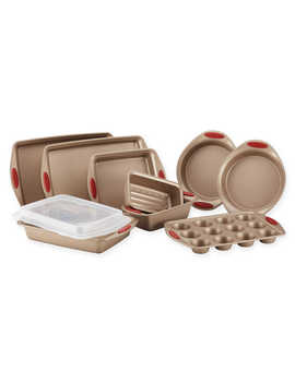 Rachael Ray™ Cucina Non Stick 10 Piece Bakeware Set In Brown/Red by Bed Bath And Beyond