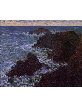 "Aenx Claude Oscar Monet   The Cote Sauvate Musée D'orsay 30"" X 24"" Wall Art Giclee Canvas Print (Unframed) by Aenx"
