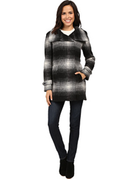 Plaid Wool With Zip Closure And Sleeve Detail by Calvin Klein