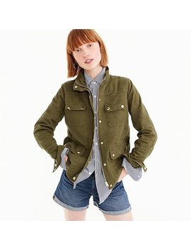 Petite Uncoated Downtown Field Jacket by J.Crew