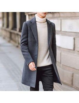 Plain Lapel Coat by Posi
