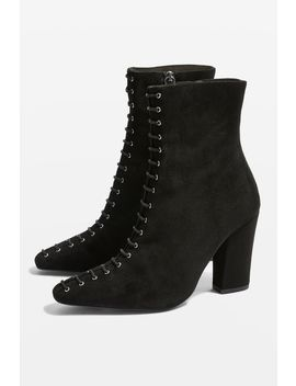 Harriet Lace Up Suede Boots by Topshop
