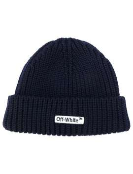 Ribbed Logo Beanie by Off White
