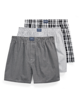Classic Cotton Boxer 3 Pack by Ralph Lauren