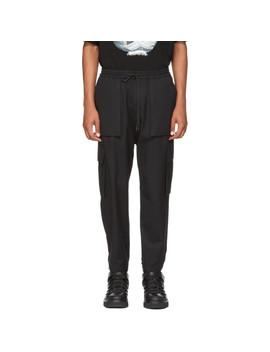Pantalon Cargo à Cordon Coulissant Noir by Juun.J