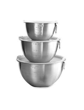 3 Piece Stainless Steel Mixing Bowl Set by Bed Bath And Beyond