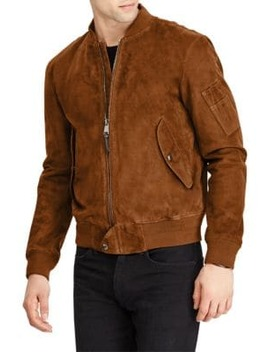 Suede Gunners Bomber Jacket by Polo Ralph Lauren