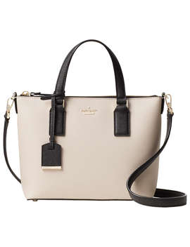 Kate Spade New York Cameron Street Lucie Leather Cross Body Bag, Tusk/Black by Kate Spade New York