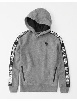 Logo Tape Hoodie by Abercrombie & Fitch