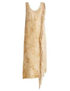 Sharon Antique Silk Blend Slip Dress by By Walid