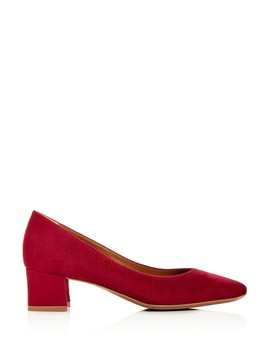 Women's Pasha Weatherproof Suede Block Heel Pumps by Aquatalia