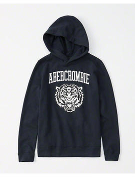 Flip Sequin Graphic Hoodie by Abercrombie & Fitch