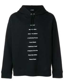Statement Patch Hoodie by Raf Simons