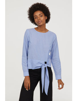 Modal Blend Tie Front Blouse by H&M