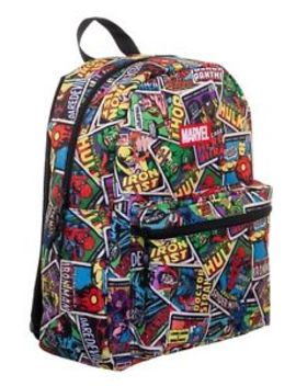 Marvel Comics Classic Comic Book Covers 16'' Backpack School Book Bag Avengers by Marvel Comics