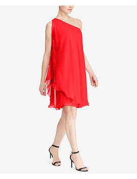 Georgette One Shoulder Dress by Lauren Ralph Lauren