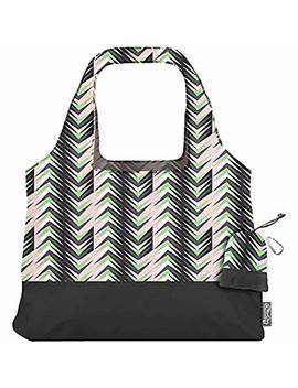 Chico Bag Vita Abstract Compact Reusable Shopping Tote Grocery Bag, Eco Friendly, Washable, With Attached Pouch And Carabiner Clip To Take With You On The Go   Prism by Chico Bag