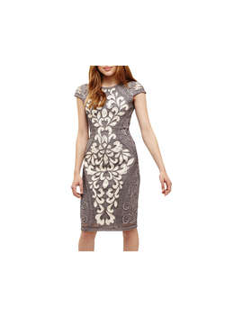 Phase Eight Perdy Tapework Dress, Grey/Multi by Phase Eight