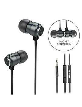 Mpow Earphones In Ear Headphones With Mic, Noise Isolating Magnetic Wired Earphones Earbuds, Pure Sound And Powerful Bass For Samsung Galaxy, Sony, Huawei, I Phone, I Pad, Andriod, Mp3 Players, Etc by Mpow