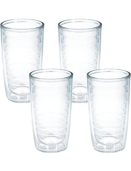 Tervis 4 Pack Tumbler, 16 Ounce, Clear by Tervis
