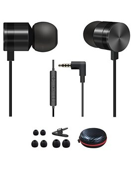 Ailun In Ear Headphones,By, Wired Hifi Earphones With Microphone,3.5mm Jack Noise Isolating,Stereo Earphones, Earbuds With Mic For I Phone,I Pod,I Pad,Galaxy S9/S9+,Android Smartphone,Tablet   Black by Ailun