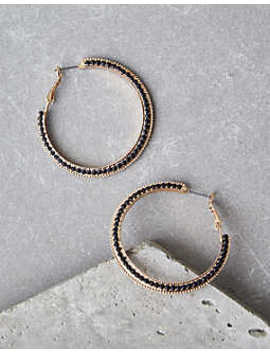 Aeo Gold Pavé Hoop Earrings by American Eagle Outfitters