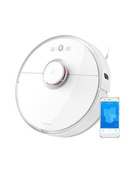 Roborock Mi Robot Vacuum S501 Sweep Mop Robotic Cleaner Wi Fi Connected Laser Navigating Strong Suction For All Floor Types With Mopping Cloth, White by Roborock