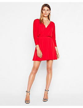 Surplice Dolman Dress by Express