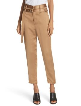 Belted Satin Pants by Robert Rodriguez