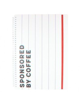 A4 Sponsored By Coffee Lined Notebook by Paperchase