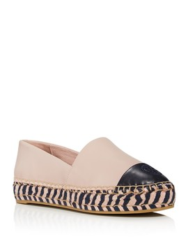Women's Leather Color Block Platform Espadrilles by Tory Burch