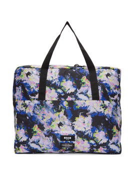 Multicolor Eastpak Edition Flowers Tote by Msgm