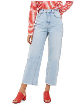 Moto Bleach Cropped Jeans 32 Inch Leg by Topshop