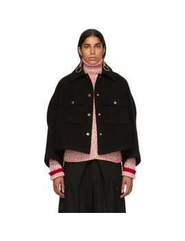 Black Loose Fitted Jacket by ChloÉ