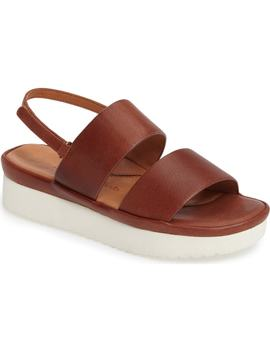 Abruzzo Slingback Platform Wedge Sandal by L'amour Des Pieds