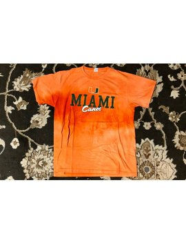 "Vintage Bleached Miami University (Florida) ""Canes"" T Shirt by 1998 Gallery"